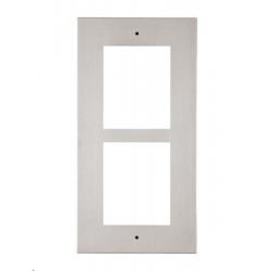 Flush installation frame for 2 modu