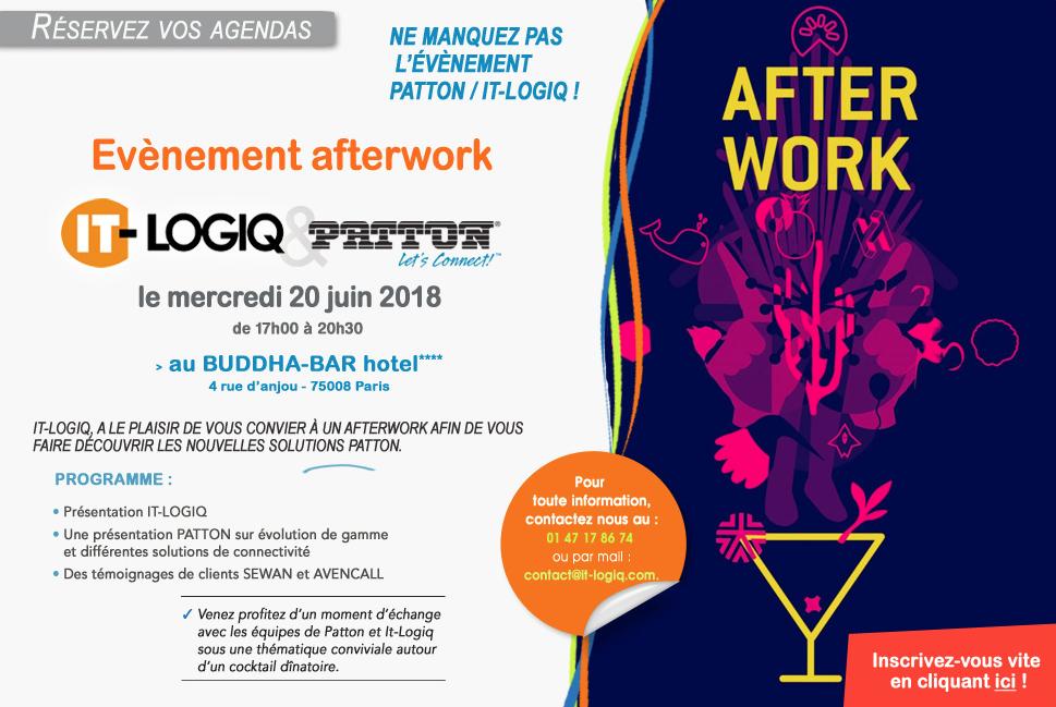 Evenement afterwork, 18 juin à 18h